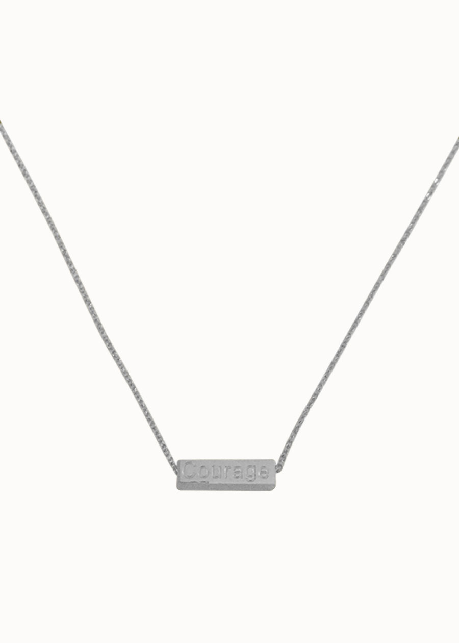 Ketting Courage zilver