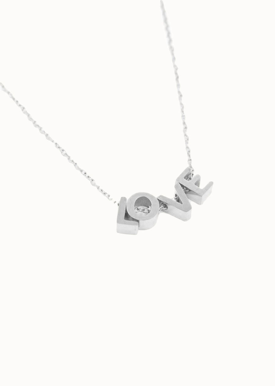 Ketting Love Letters zilver