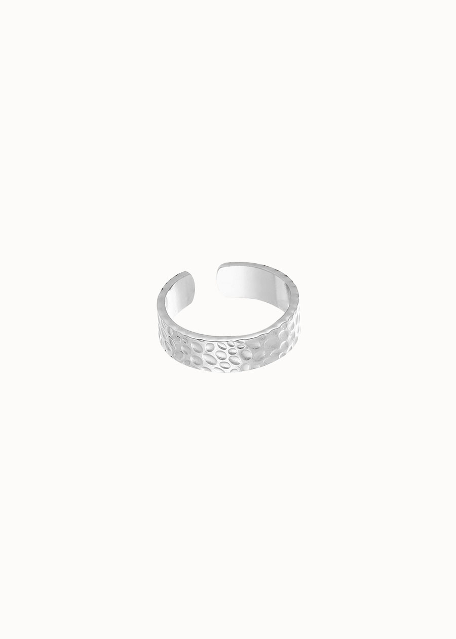 Grove ring zilver