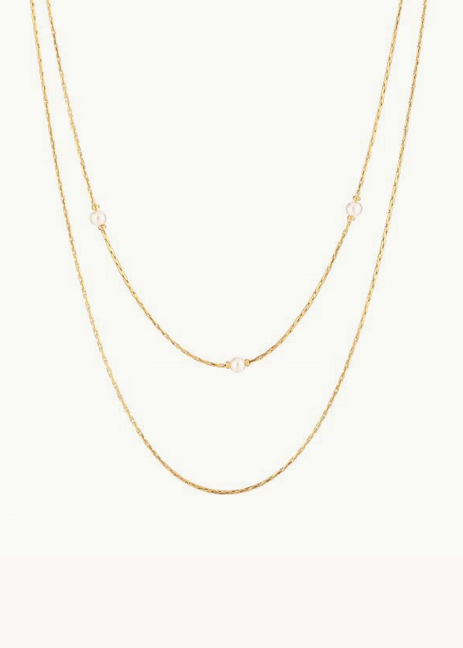 Ketting double beads