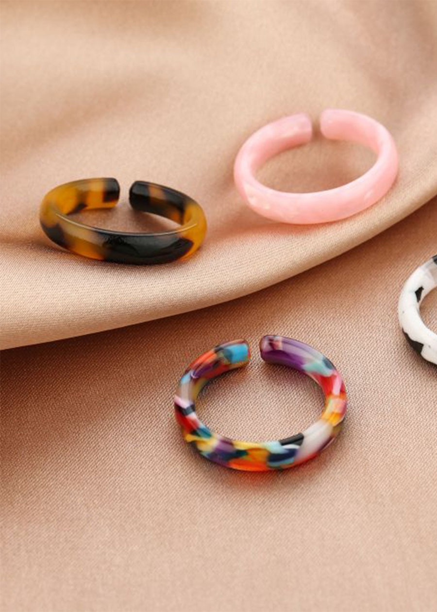 Ring marble look roze