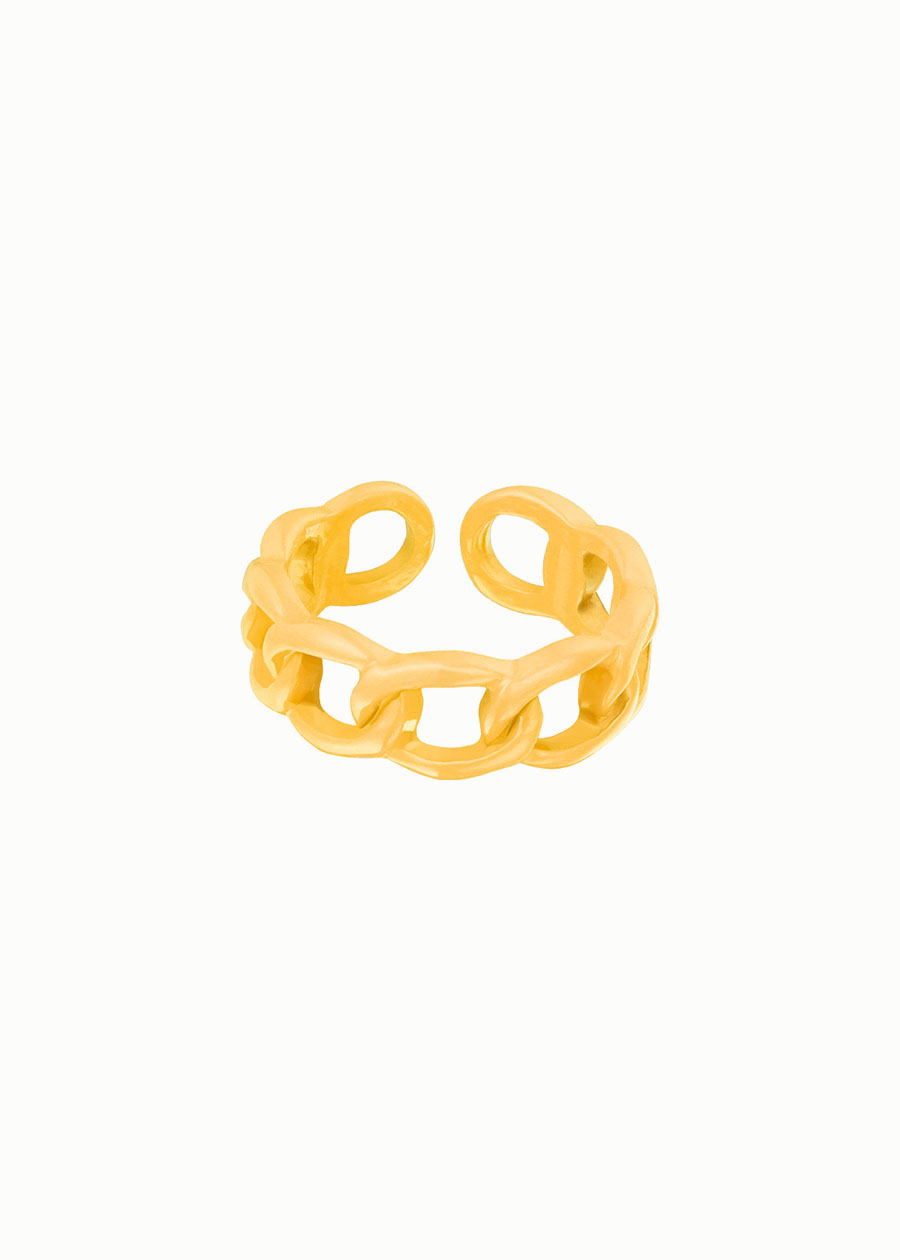 Candy ring holes geel